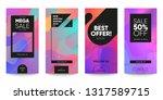 set of sale banner for social... | Shutterstock .eps vector #1317589715