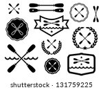 paddle badges and icons. | Shutterstock .eps vector #131759225