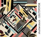 geometric pattern design | Shutterstock . vector #1317595958