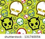 seamless skull pattern. | Shutterstock .eps vector #131760056