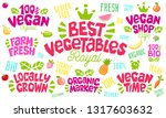 colorful lettering sign healthy ... | Shutterstock .eps vector #1317603632