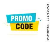 promo code  coupon code. flat... | Shutterstock .eps vector #1317610925