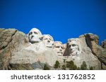mount rushmore monument in... | Shutterstock . vector #131762852
