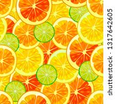 citrus colorful pattern. fruity ... | Shutterstock .eps vector #1317642605