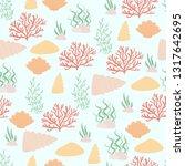 sea or ocean life vector...   Shutterstock .eps vector #1317642695