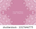 invitation or card template... | Shutterstock .eps vector #1317646775