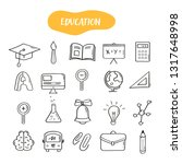 hand drawn line style icons of... | Shutterstock .eps vector #1317648998