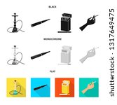 isolated object of refuse and... | Shutterstock .eps vector #1317649475