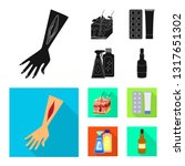 vector design of medical and... | Shutterstock .eps vector #1317651302