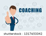 coaching   text on a blue... | Shutterstock .eps vector #1317653342