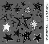 set of black and white hand... | Shutterstock .eps vector #1317659048
