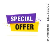 special offer sale tag discount ... | Shutterstock .eps vector #1317661772