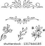 floral frame hand drawn | Shutterstock .eps vector #1317666185