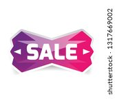 sale button low poly vector | Shutterstock .eps vector #1317669002