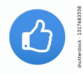 hand icon in blue circle....