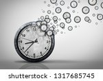 business time plan concept and... | Shutterstock . vector #1317685745
