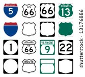 interstate and us route signs... | Shutterstock .eps vector #13176886