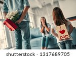 i love mom  happy family... | Shutterstock . vector #1317689705