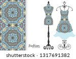 vector fashion illustration.... | Shutterstock .eps vector #1317691382