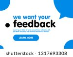 we want your feedback web... | Shutterstock .eps vector #1317693308