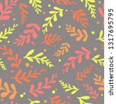 seamless pattern with colorful... | Shutterstock .eps vector #1317695795