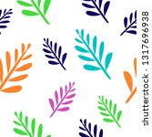 seamless pattern with colorful... | Shutterstock .eps vector #1317696938