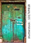 Old Dilapidated Wooden Door....