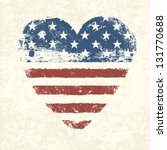Heart Shaped American Flag....