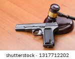 trial for armed robbery. trial... | Shutterstock . vector #1317712202