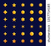 star symbol set  yellow... | Shutterstock .eps vector #1317714185