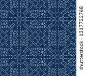 abstract motif sashiko style...   Shutterstock .eps vector #1317722768