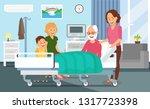hospital discharging flat... | Shutterstock .eps vector #1317723398