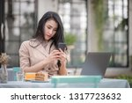 young asia freelance business... | Shutterstock . vector #1317723632