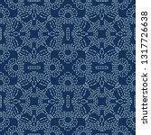 floral motif sashiko style...   Shutterstock .eps vector #1317726638