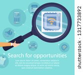 search for opportunities with... | Shutterstock .eps vector #1317733892