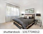 Stock photo a compact bedroom d cor 1317734012