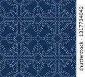 abstract motif sashiko style...   Shutterstock .eps vector #1317734042