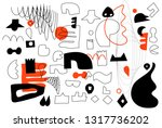 unique trendy artistic... | Shutterstock .eps vector #1317736202