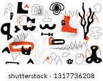 unique trendy artistic... | Shutterstock .eps vector #1317736208