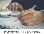 business man signing a contract....   Shutterstock . vector #1317741482