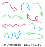colored infographic elements... | Shutterstock .eps vector #1317741752