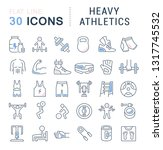 set of vector line icons of... | Shutterstock .eps vector #1317745532