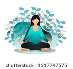 girl sits in lotus position....