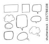 hand drawn doodle speech...   Shutterstock .eps vector #1317788108