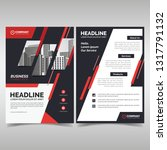 business flyer template with... | Shutterstock .eps vector #1317791132