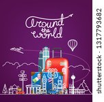 around the world concept.... | Shutterstock .eps vector #1317793682