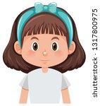 a brunette girl character... | Shutterstock .eps vector #1317800975