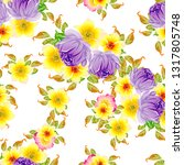 flower print. elegance seamless ...   Shutterstock .eps vector #1317805748