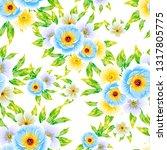 flower print. elegance seamless ...   Shutterstock .eps vector #1317805775