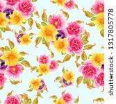 flower print. elegance seamless ... | Shutterstock .eps vector #1317805778